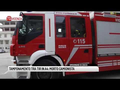 TG VICENZA (10/12/2018) - TAMPONAMENTO TRA TIR IN A4: MORTO CAMIONISTA