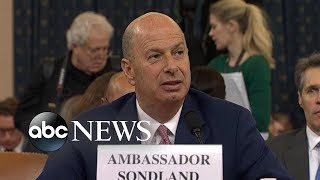 Amb. Gordon Sondland delivers opening statement at House Impeachment hearing | ABC News
