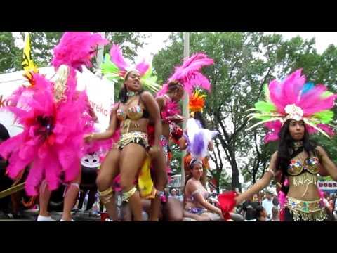 Dancing at Caribana 2010 in Toronto Canada