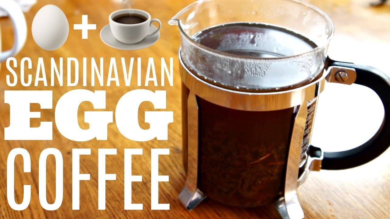 Scandinavian Egg Coffee Brewing With An Shell All