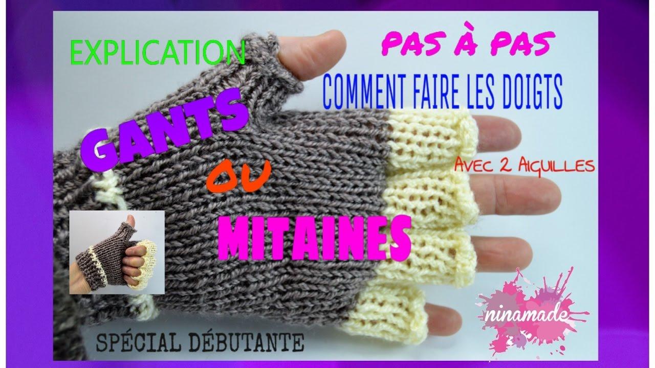 DIY.Tricoter les Doigts de Gants/ Mitaines Pas à Pas//How to Knit Glove Fingers/Mittens. - YouTube