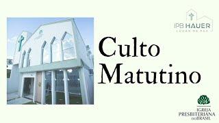 Culto Matutino 27/09/2020