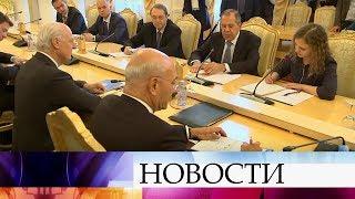 В Москве прошли переговоры Сергея Лаврова со спецпосланником Стаффаном де Мистурой.