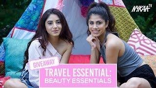Travel Essentials - Beauty Edition + Giveaway | Aashna Shroff + Malvika Sitlani