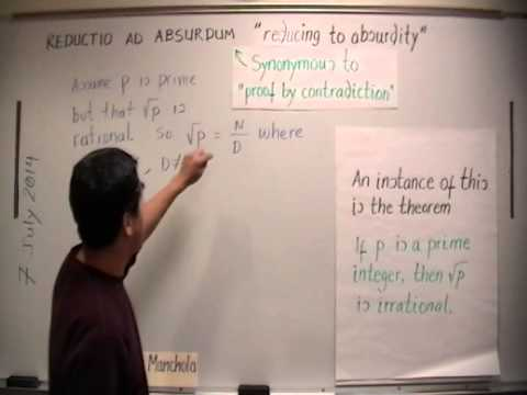 Reductio Ad Absurdum (Proof by Contradiction) - YouTube