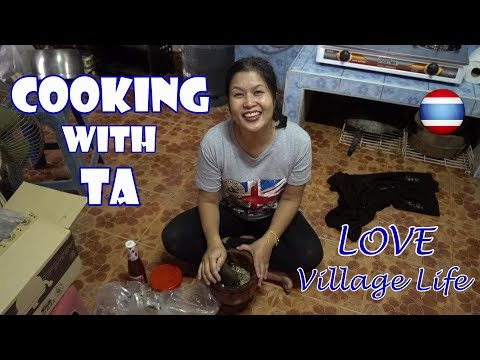 Thai Home Cooking Dinner Ban Tham Village Phayao Northern Thailand
