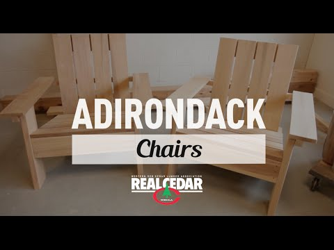 How to build : Adirondack Chair - RealCedar.com