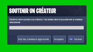 CODE CREATOR FORTNITE BACKGROUND GREEN - SOUND EFECT CLAVIER!