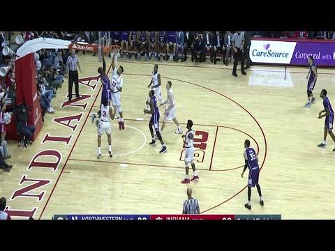 Big Ten Basketball Highlights: Northwestern at Indiana