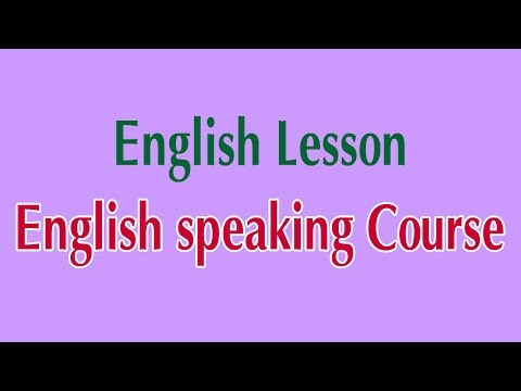 Learn English Online - English speaking Course English Lesson