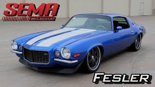 Fesler Flush Glass for Muscle Cars at SEMA 2017 Video V8TV