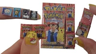 DIY Miniature ★Sticker Album Pokemon★ for Dollhouse TUTORIAL - Crafts