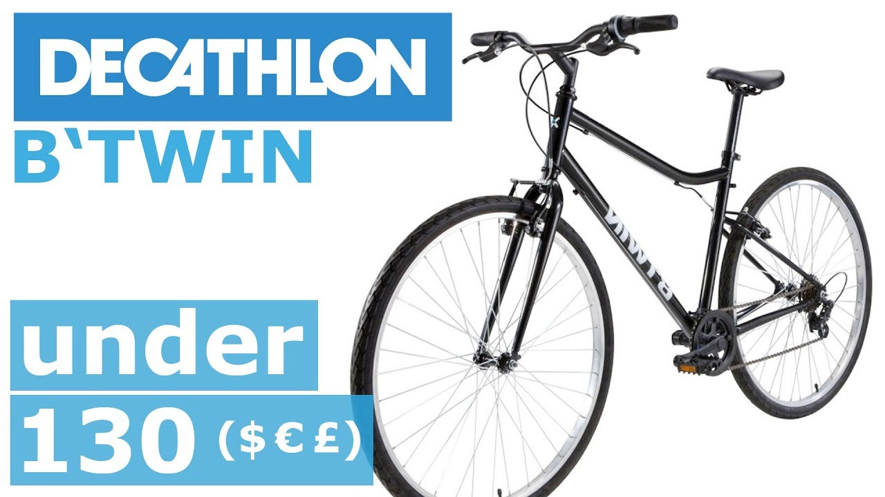 decathlon b 39 twin riverside 100 bike bicycle fahrrad youtube. Black Bedroom Furniture Sets. Home Design Ideas