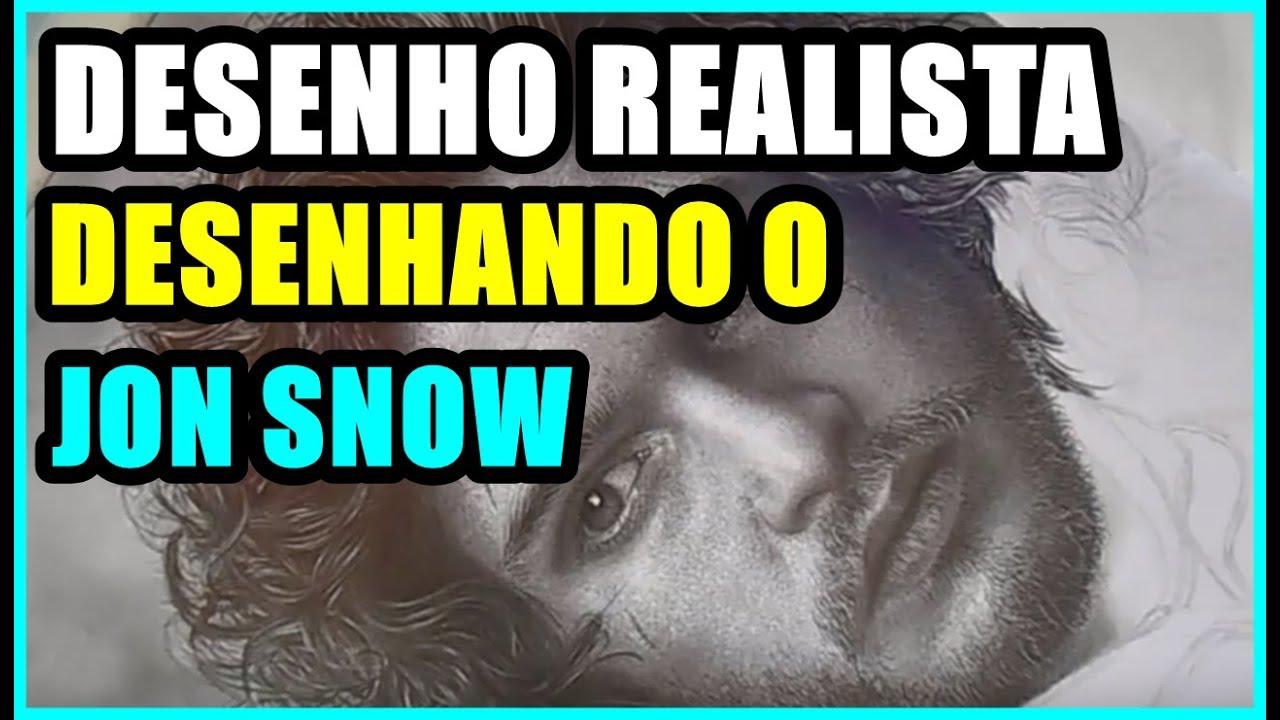 Desenho Realista Desenhando Jon Snow 01 Youtube