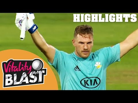 Finch & Roy Share Record Stand | Surrey v Middlesex | Vitality Blast 2018 - Highlights