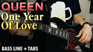 Queen - One Year Of Love /// BASS LINE [Play Along Tabs]