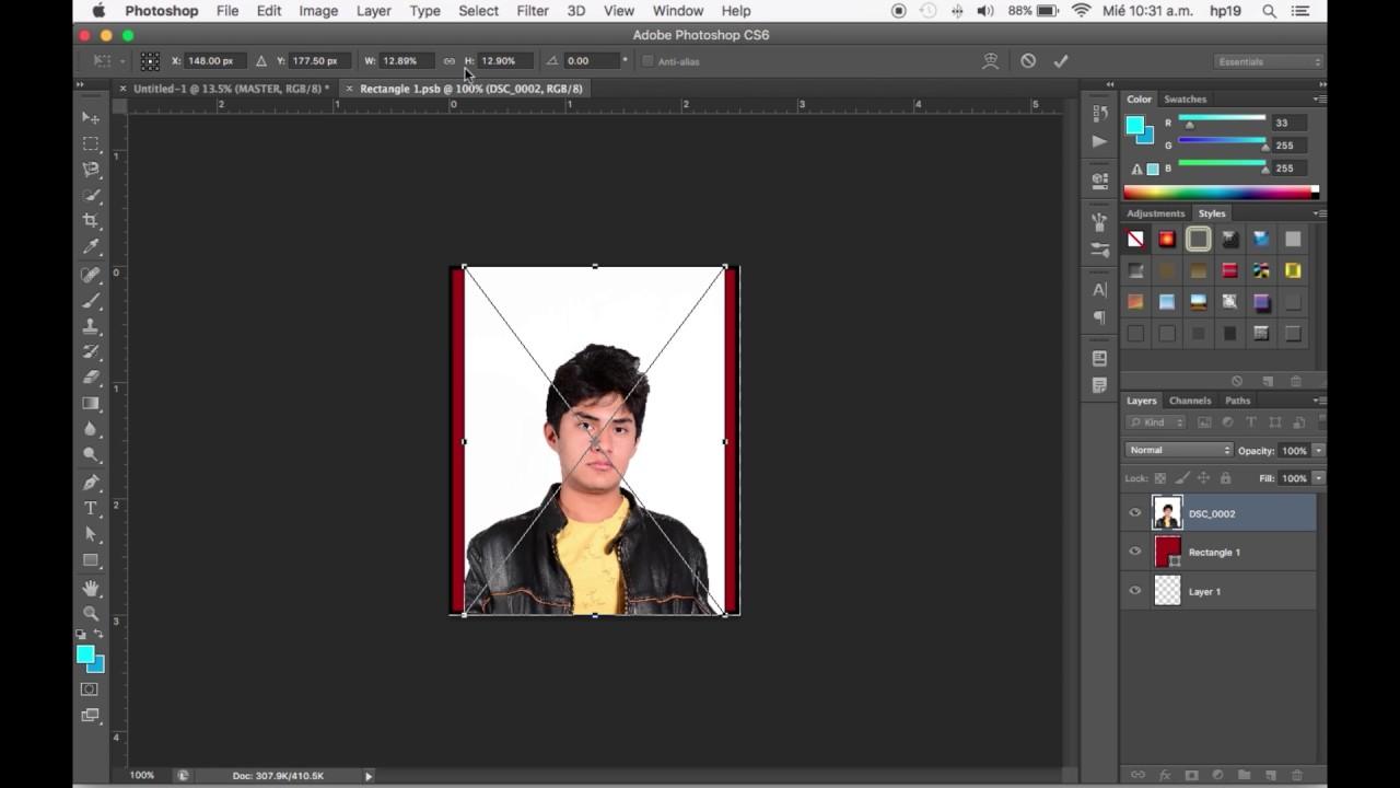 Plantilla para fotografias tamaño infantil en Photoshop - YouTube