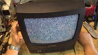 emerson tv  vcr turns off and jams repair. Can this be repaired? Lets find out.