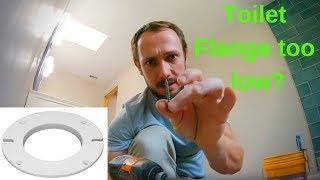 Installing a toilet flange spacer - Oatey - Flange too low