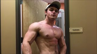 Young Bodybuilder Jamie Tyler Shows Sexy Muscle Flexing Sexy Pecs In Planet Fitness