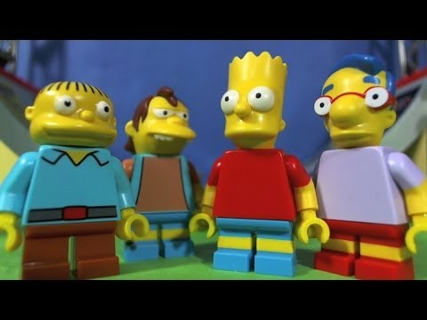 LEGO SIMPSONS Bart and the gang go to the Skate park