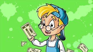 Развивающий мультфильм- Профессор Почемушкин –Почему американские доллары называют баксами?