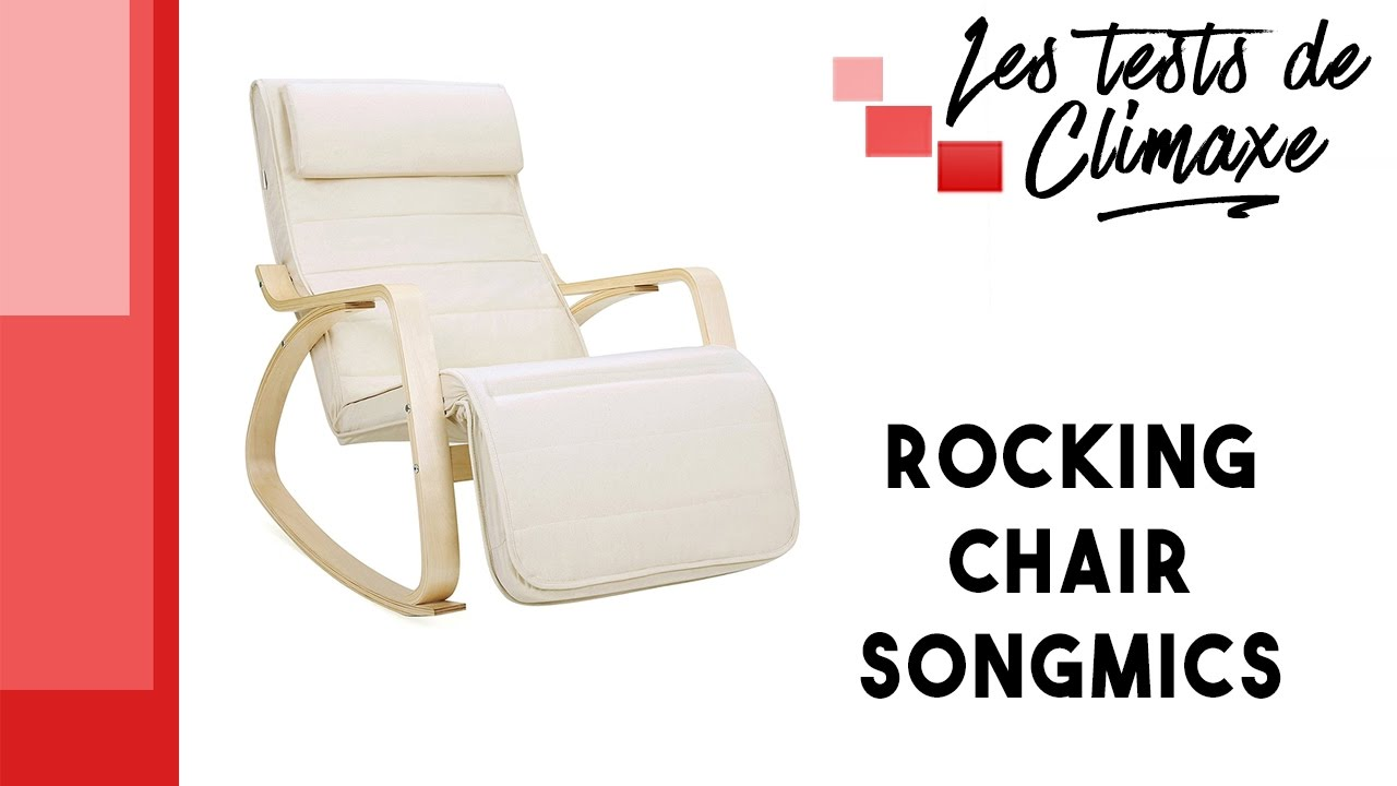 Test D Une Rocking Chair Songmics Avec Repose Pieds Youtube