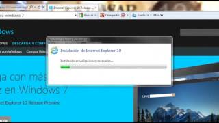 Como Instalar Internet Explorer 10 En Windows 7 ....