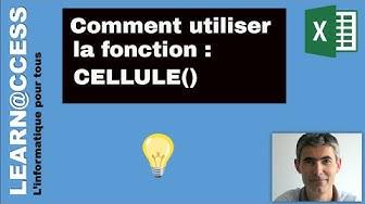 Excel - Présentation de la Fonction CELLULE()