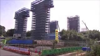 新東名工事現場(伊勢原北ICー伊勢原JCT間)