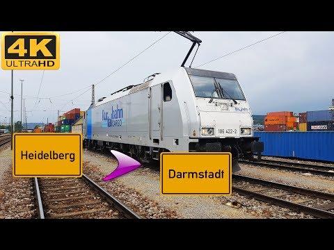 【4K】 Führerstandsmitfahrt Heidelberg HBF nach Darmstadt HBF über Weinheim,Bensheim,Eberstadt