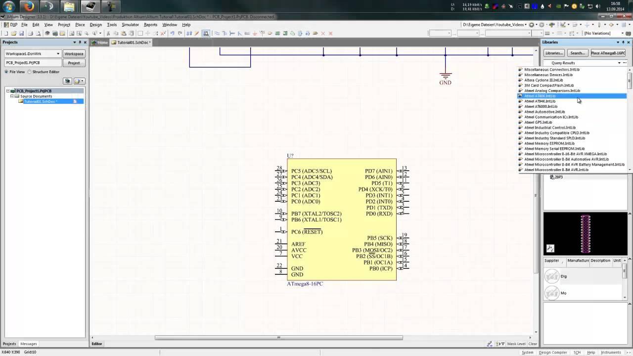 Altium Designer - Schaltplaneditor - Part 2 [Deutsch] - YouTube