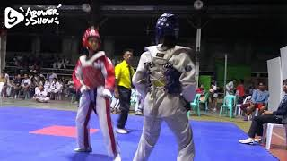Christine Joanne T. Duran's Kyorugi Fight 2nd Game (Alicia 2018)