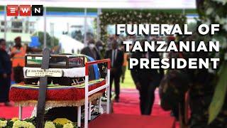 President Cyril Ramaphosa attended the funeral of the late Tanzanian President John Pombe Magufuli on 22 March 2021.  #Tanzania #Magufuli #Ramaphosa