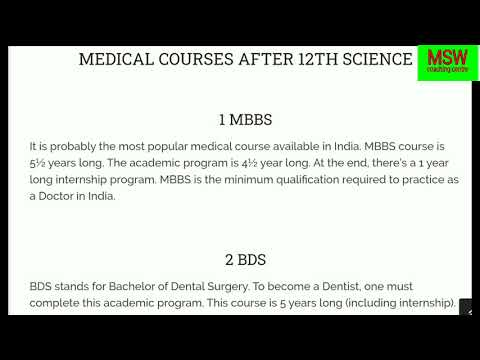 all-medical-courses-after-12th-class- -list-of-all-medical-courses- -career-in-medical-stream-2020