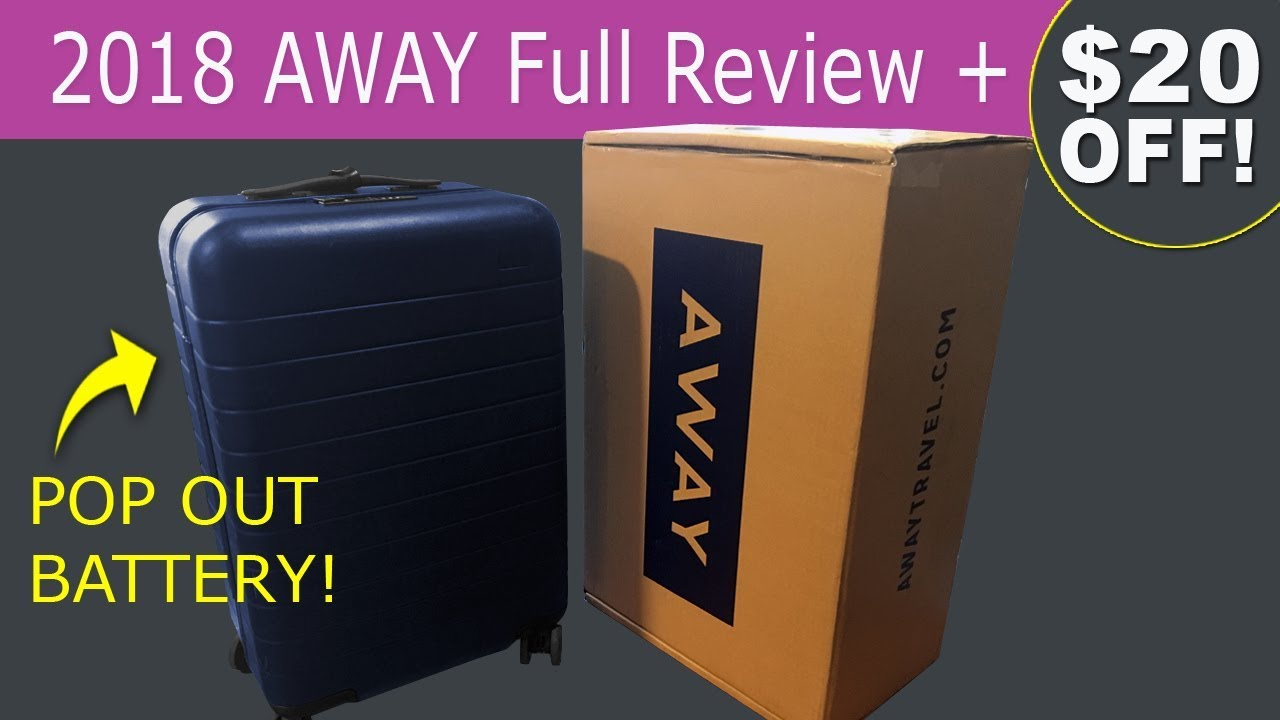Away Luggage Review 2018 Smart Luggage + $20 OFF (The Bigger Carry-On Suitcase) - YouTube