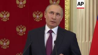 Putin: blames campaign to undermine Trump