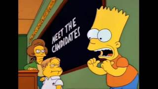 2016 US Democratic Party Primary Election The Simpsons Animated Version