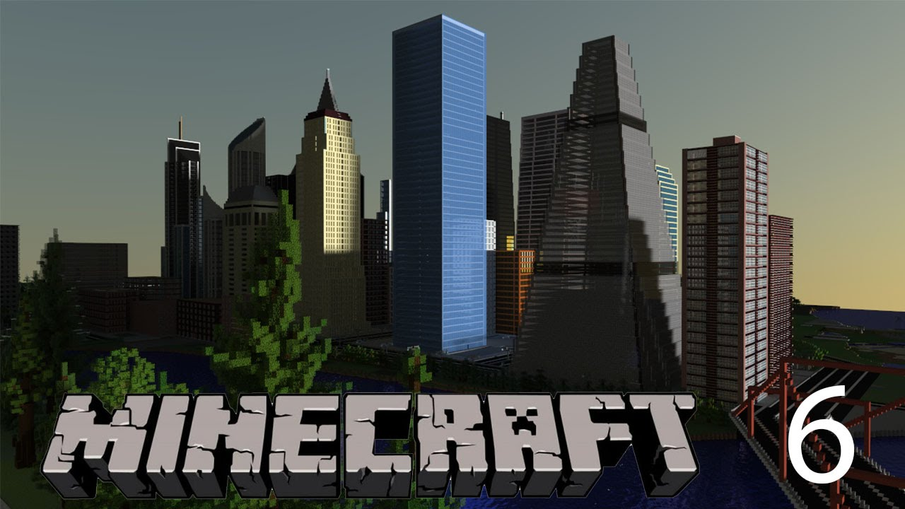 city building side. MINECRAFT Building A MODERN City  Baylake Episode 6 WEST SIDE CBD