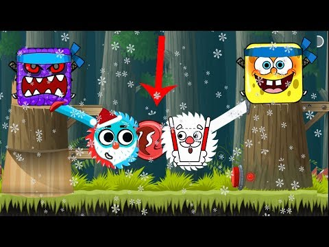 ( LOVE BALLS VS HAPPY GLASS ) SANTA CLAUS in Flawless Victory in Red Ball 4 Chapter 2 Deep Forest