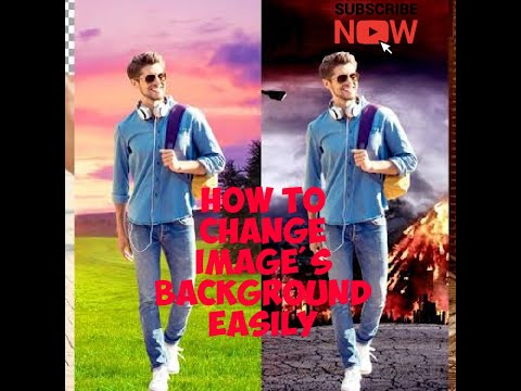 How to change image's background easily and black & white photo convert to colour photo.