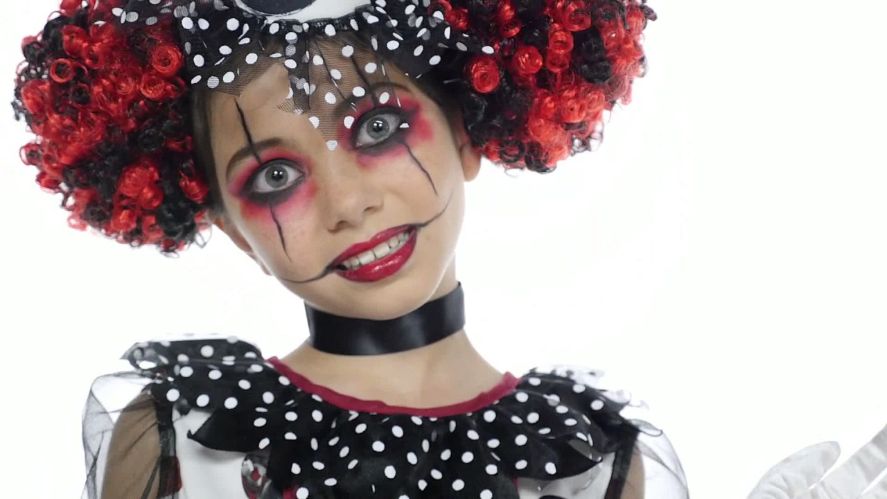 Creepy Clown Girl Costume - YouTube