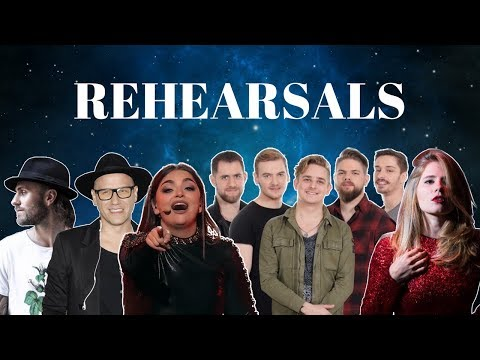 Eurovision 2018 Rehearsals - Poland, Malta, Hungary & Latvia (Press Center)