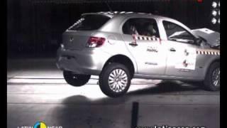 Crash test com o Volkswagen Gol Trend 1.6 - sem airbag