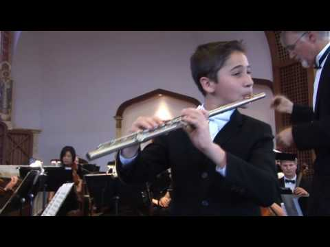 Mozart: Concerto for Flute No. 1, in G Major: Soloist is 12 year old Omar Gaidarov