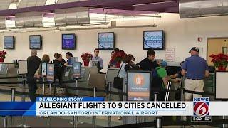 Allegiant flights cancelled at Sanford airport