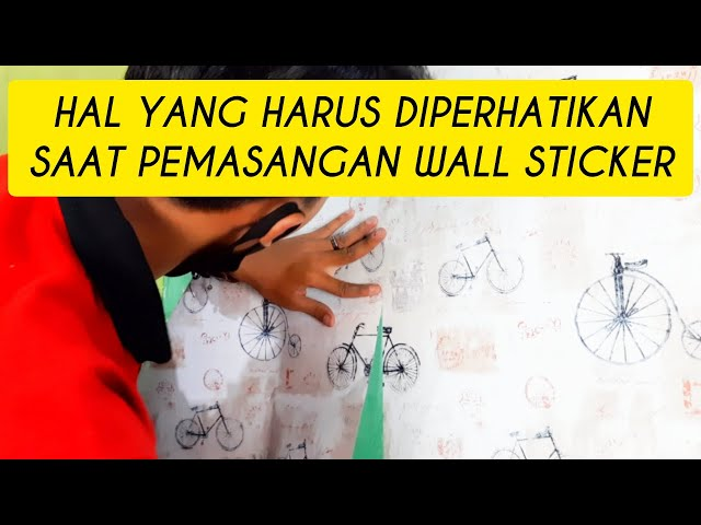 TIPS & TRIK CARA MUDAH PASANG WALL STICKER SUPAYA MOTIF NYA MENYATU DAN RAPIH