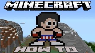 Minecraft ~8 Bit~ HOW TO : Rocky Balboa ( Tutorial ) /W Killerkev