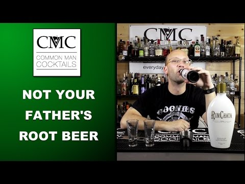 Root Beer Float Shooter, With Not Your Father's Root Beer