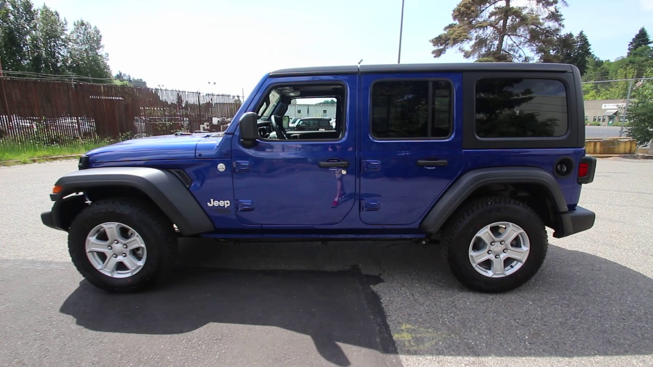 2018 Jeep Wrangler Jl Unlimited Sport S Ocean Blue